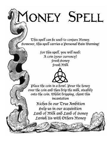 Astrohelpful: ATTRACT MONEY FOR MONEY SPELL